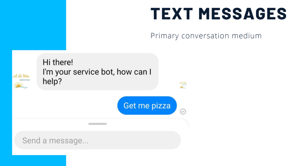 text messages in the chatbot