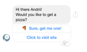 TEXT message with buttons