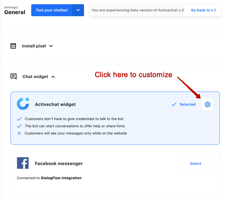 Customizing chat widget by Activechat